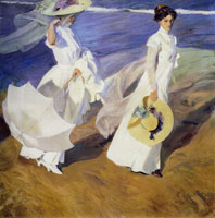 Joaquin Sorolla y Bastida - Walk on the Beach