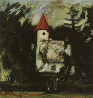 Chaim Soutine - The Castle of Châtelguyon