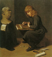 Michael Sweerts Boy Drawing before the Bust of a Roman Emperor