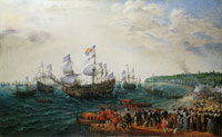 Adam Willaerts Embarkation at Margate of the Elector Palatine and Princess Elizabeth