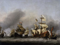 Willem van de Velde the Younger The Surrender of the Royal Prince on the Third Day of the Four Days' Battle, 13 June 1666