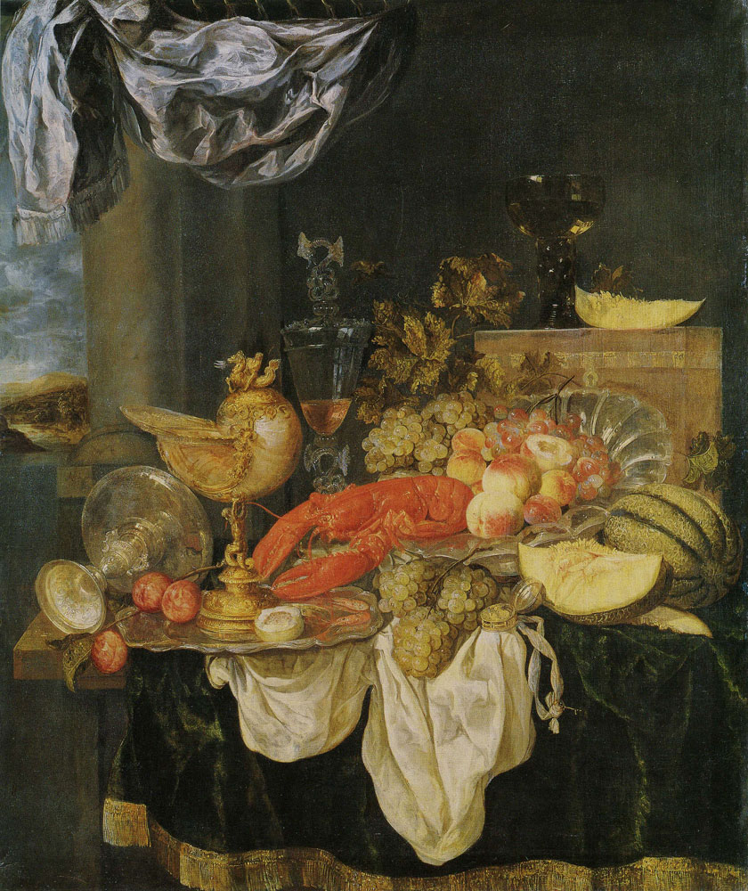 Abraham van Beijeren - Still Life with Lobster