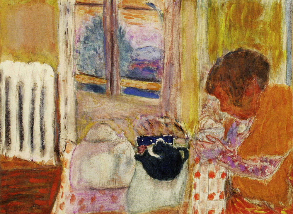 Pierre Bonnard - Cup of Tea by the Radiator