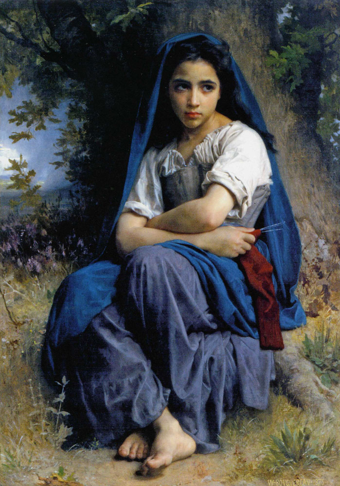 William-Adolphe Bouguereau - The Little Knitter