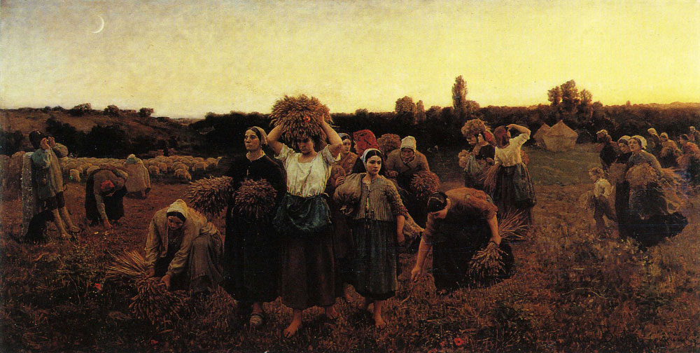 Jules Breton - The Recall of the Gleaners