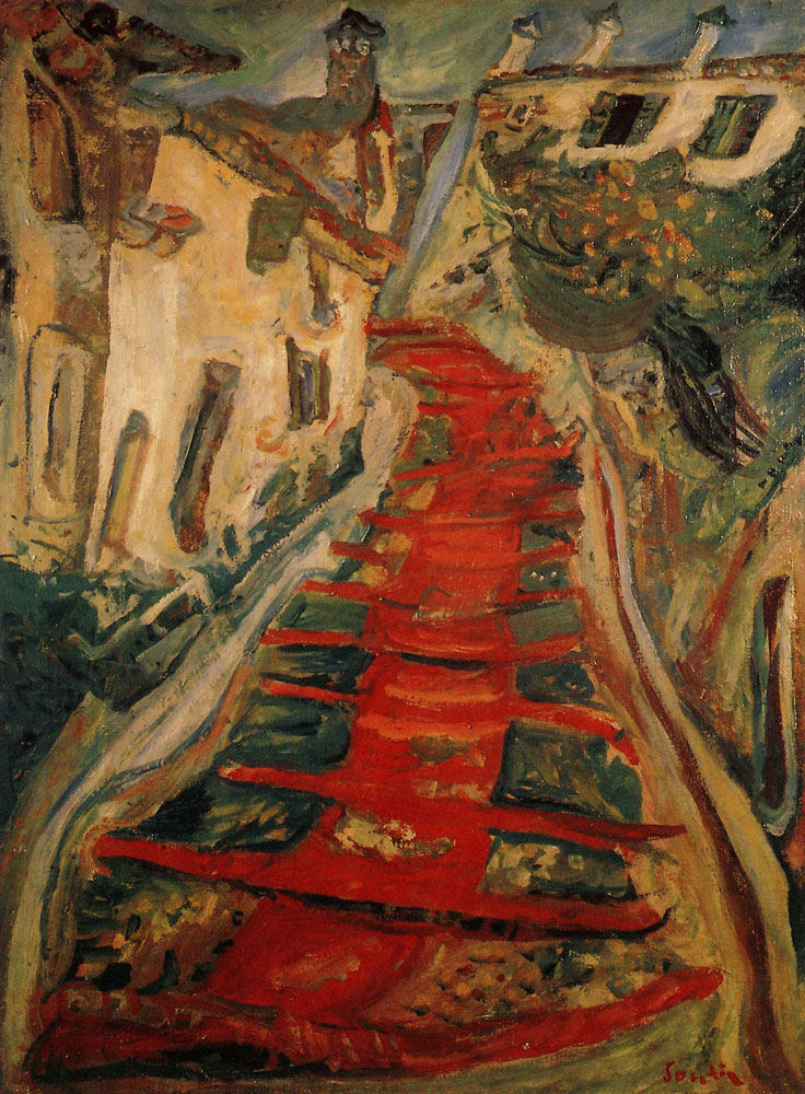 Chaim Soutine - Red Stairway at Cagnes