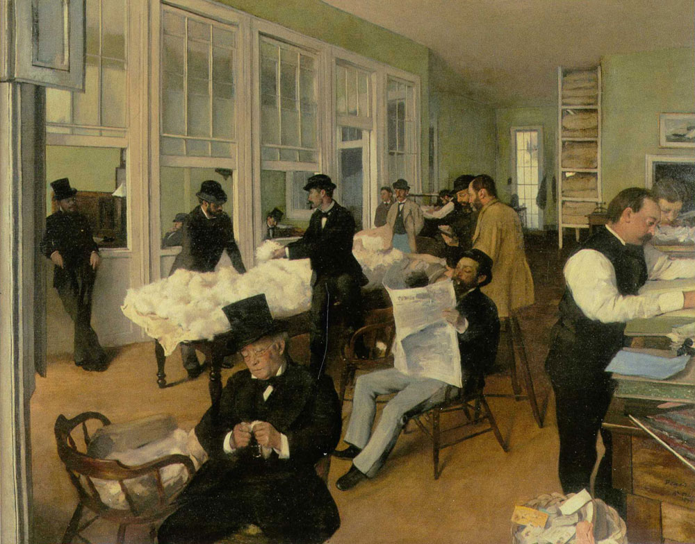 Edgar Degas - Interior of a Cotton Buyer's Office in New Orleans