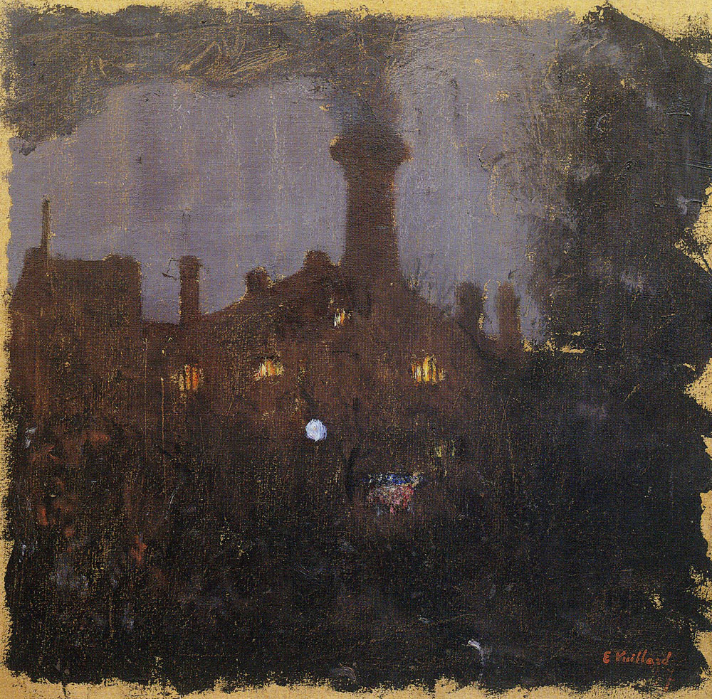 Edouard Vuillard - Factory at Night: the Tall Chimney