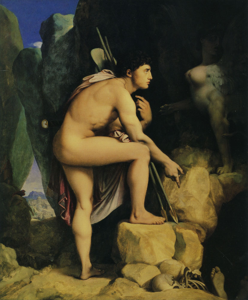 Jean Auguste Dominique Ingres - Oedipus and the Sphinx