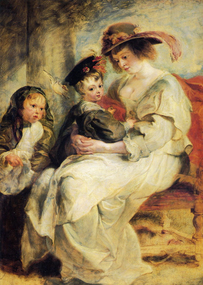 Peter Paul Rubens - Portrait of Hélène Fourment and Two of Her Children