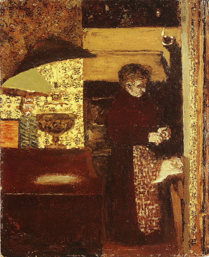 Edouard Vuillard - The Cook, Madame Vuillard Peeling Potatoes