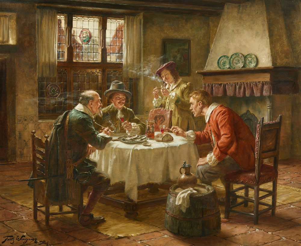 Fritz Wagner - Merry Company in a Dutch Interior