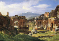 Achille-Etna Michallon Ruins of the Theater of Taormina