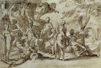 Bartholomeus Spranger Minerva with the Muses and Pegasus