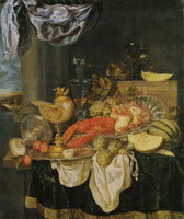Abraham van Beijeren Still Life with Lobster