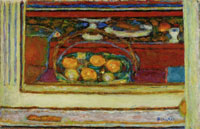 Pierre Bonnard Basket of Fruit Reflected in a Mirror