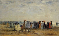 Eugène Boudin Bathers on the Beach at Trouville