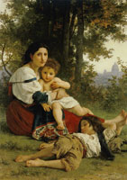William-Adolphe Bouguereau - Mother and Child (The Rest)