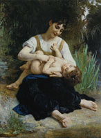 William-Adolphe Bouguereau - A Mother's Joy