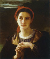 William-Adolphe Bouguereau Shepherdess from the Bordelais