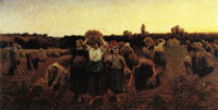 Jules Breton The Recall of the Gleaners
