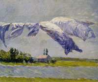 Gustave Caillebotte Linen Out to Dry, Petit Gennevilliers