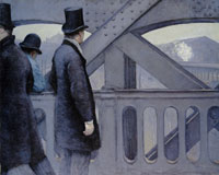 Gustave Caillebotte On the Pont de l'Europe