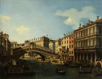 Canaletto The Embarkation of an Ambassador at the Rialto Bridge