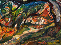 Chaim Soutine Landscape with House and Tree