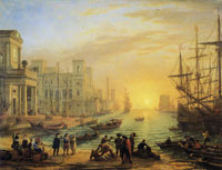 Claude Lorrain Seaport at Sunset
