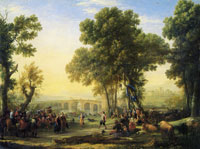 Claude Lorrain The Village Fête
