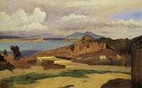 Jean-Baptiste-Camille Corot Ischia View from the Slopes of Mount Epomeo