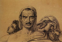 Jacques-Louis David Composition with Four Figures