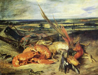 Eugene Delacroix - Still-Life with Lobsters