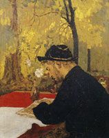 Edouard Vuillard Man with a Pipe (Cipa Godebski)