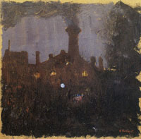 Edouard Vuillard Factory at Night: the Tall Chimney
