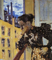 Edouard Vuillard Marie with Her Elbow Propped on a Window Bar