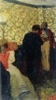 Edouard Vuillard Interior with Three Figures known as Conversation