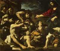 Guercino The Resurrection of Lazarus