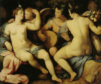 Cornelis van Haarlem Without Ceres and Bacchus Venus would freeze