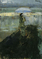 James Ensor The Lady on the Breakwater