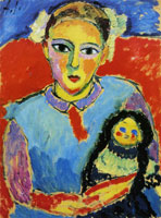 Alexej von Jawlensky - Child with doll