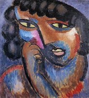 Alexej von Jawlensky - Head in bronze colours