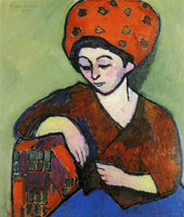 Alexej von Jawlensky Helene in coloured turban