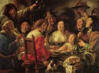 Jacob Jordaens The King Drinks