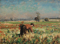 Jules Breton The flower meadow at Courrières
