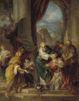 François Lemoyne Ananias restoring the sight of Saint Paul