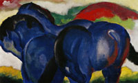 Franz Marc - The Small Blue Horses