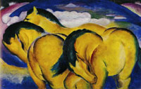Franz Marc The Small Yellow Horses
