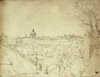 Attributed to the Master of the Little Dots - View of the Vatican from the Arco Oscuro